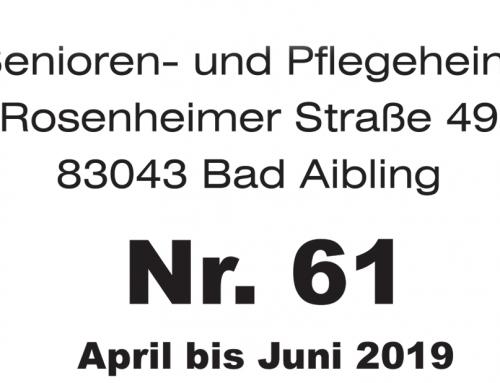 Heimzeitung Haus Wittelsbach April bis Juni 2019